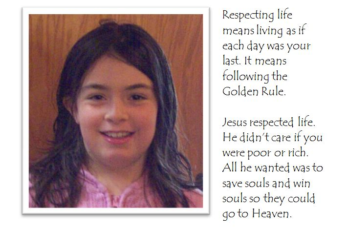 winning respect life essay by kate wagner grade   beads of st  beads of st dominic